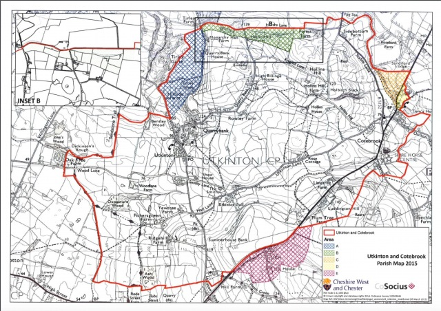 UTKINTON and Cotebrook parish map