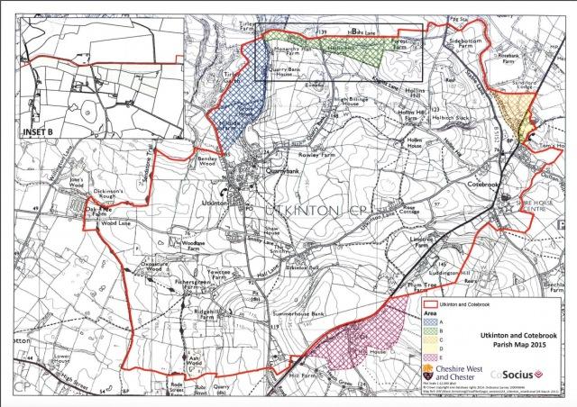 UTKINTON and Cotebrook parish map