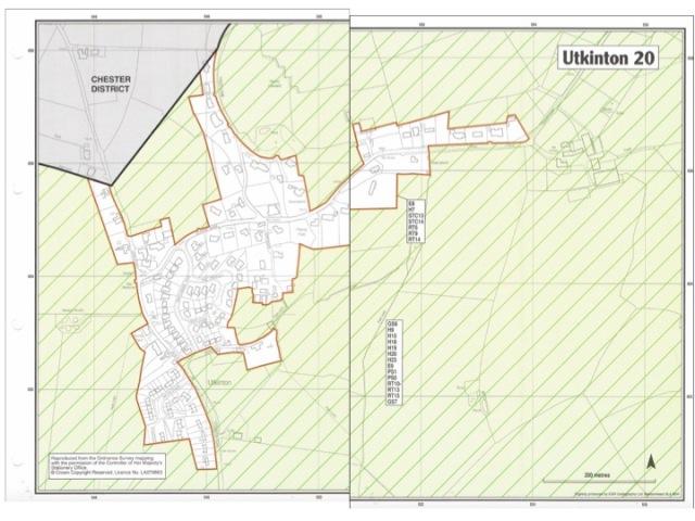 Utkinton Settlement Biundary (c.2006 - Vale Royal)