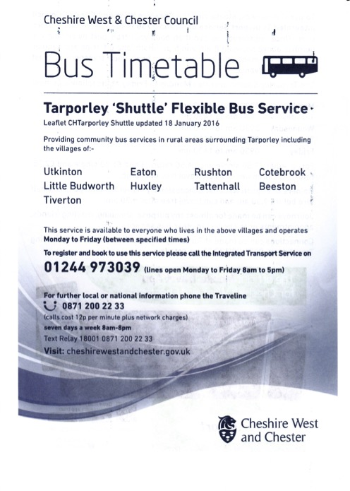 Objection to planning application 1601492out utkinton and utkinton tarporley shuttle utkinton traveline thecheapjerseys Images