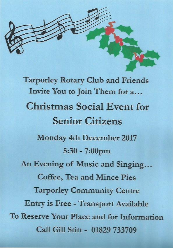 Tarporley Rotary Xmas event