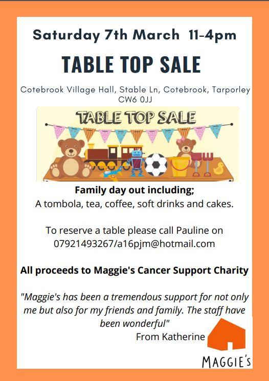 Cotebrook table top sale